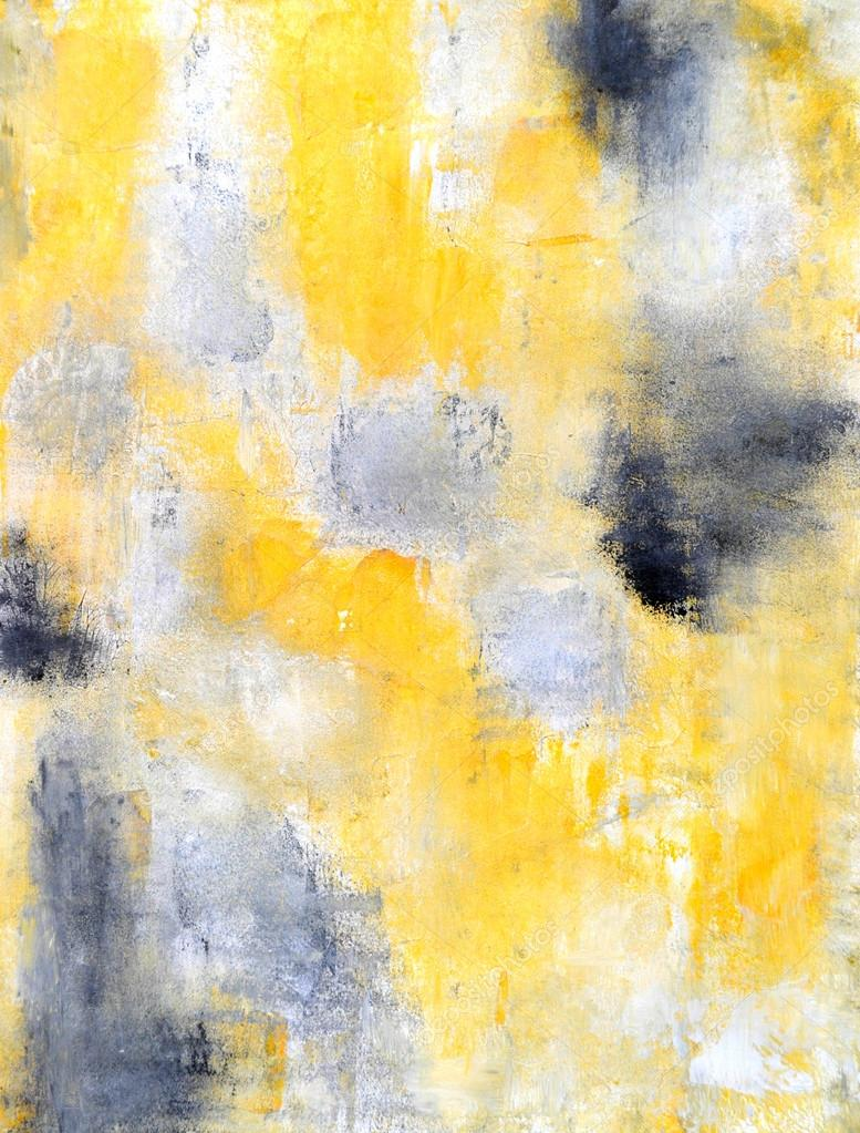 Yellow And Black Abstract Painting Black And Yellow