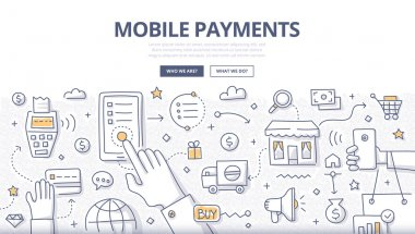 Mobile Payments Doodle Concept