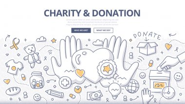 Charity & Donation Doodle Concept
