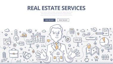 Real Estate Services Doodle Concept