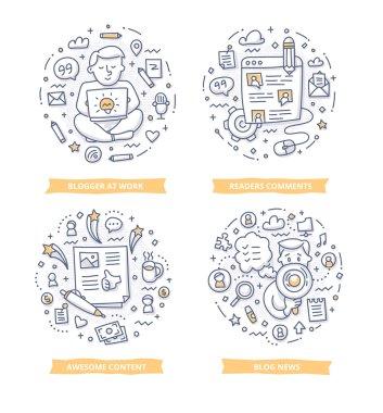 Blogging Doodle Illustrations