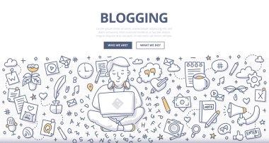 Blogging Doodle Concept