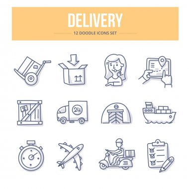 Delivery Doodle Icons