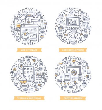 App Development Doodle Illustrations