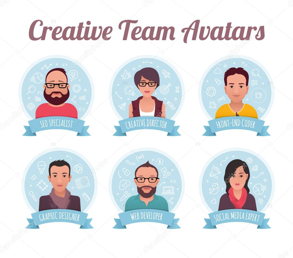 Marketing Team Avatars