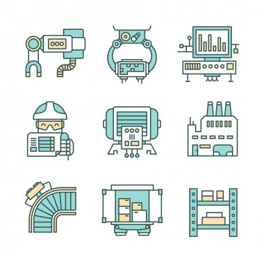 Manufacturing Process Icons
