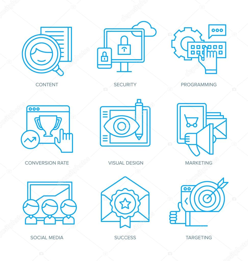 SEO and Digital Marketing Icons