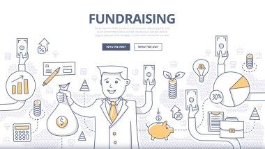 Fundraising Doodle Concept