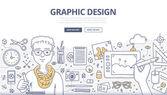 Fotografie Koncepce Doodle grafického designu