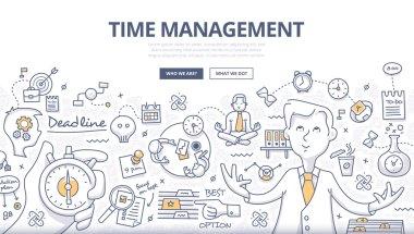 Time Management Doodle Concept