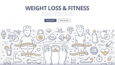 Weight Loss & Fitness Doodle Concept