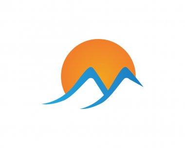 Beauty High Mountain icon  Logo Business Template Vector stock vector