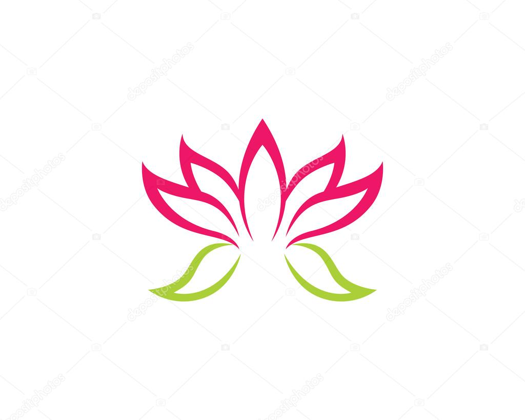 Lotus Flower Logo Yoga And Health Stock Vector Elaelo 102956858