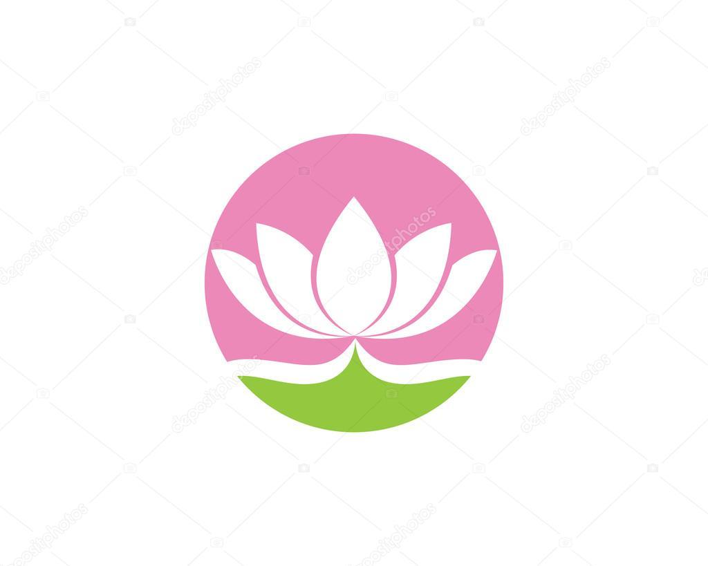 lotus flower logo yoga and health stock vector elaelo 102956894 rh depositphotos com