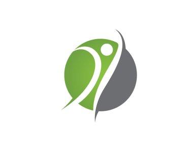 Yoga health logo women