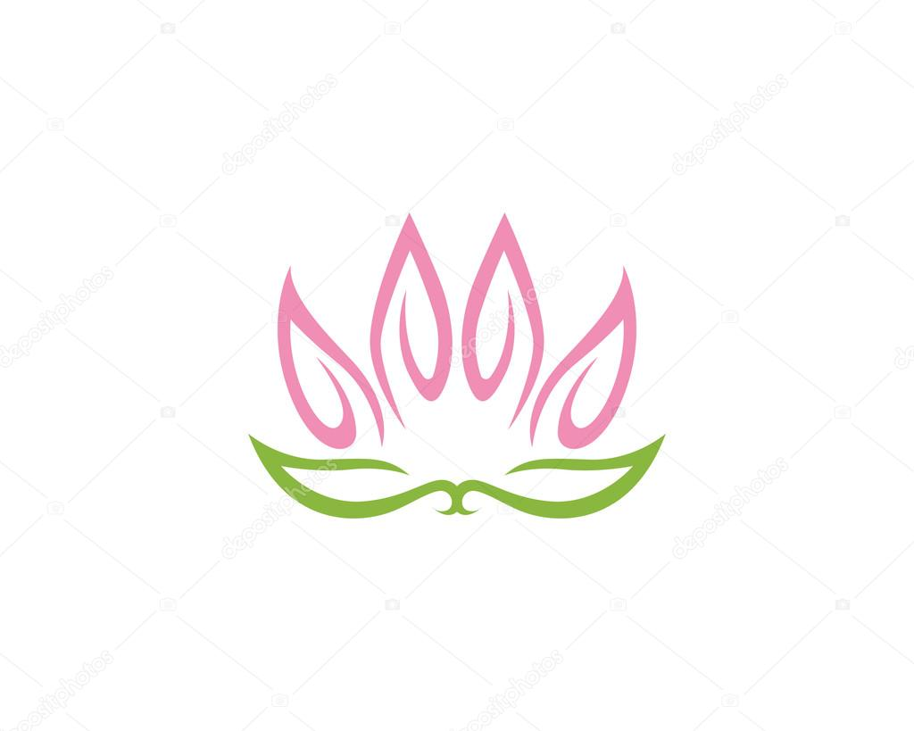 Lotus flower logo template — Stock Vector © elaelo #106139420