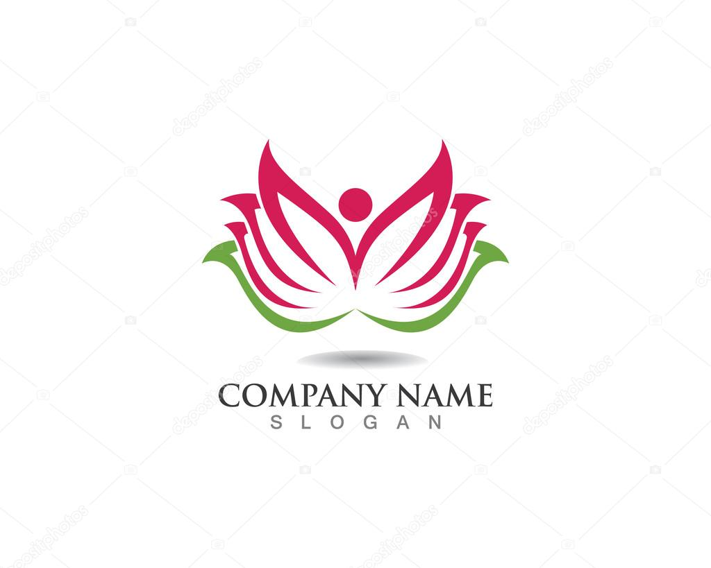 Lotus Flower Logo Spa Stock Vector Elaelo 107113428