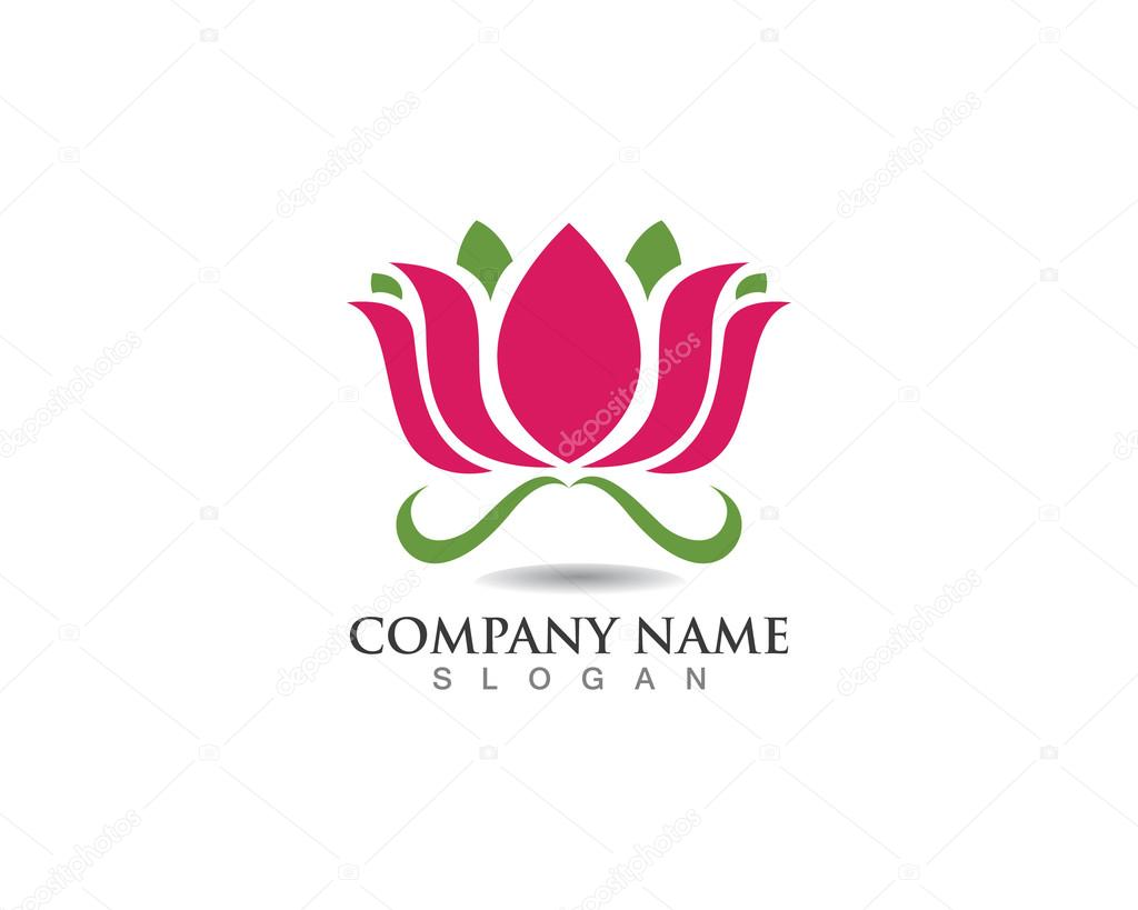 Lotus Flower Logo Spa Stock Vector Elaelo 107113482