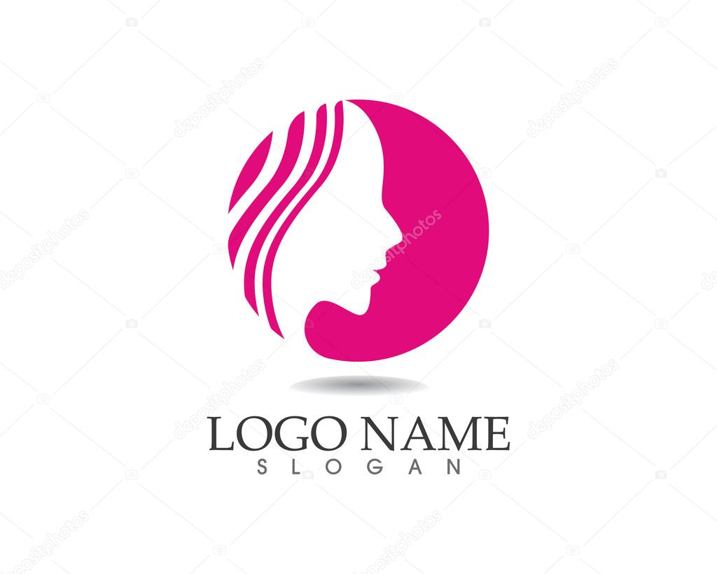Beauty women logo spa and salon