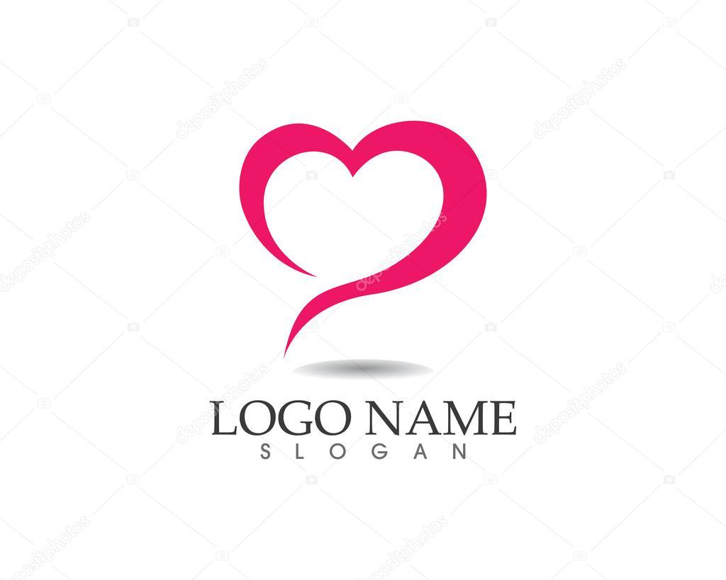 Liefde familie logo gezondheidszorg — Stockvector © elaelo ...