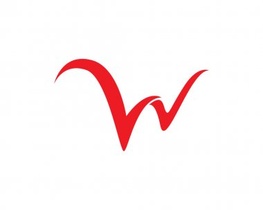 W letter logo and template