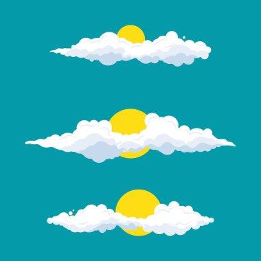 Cloud cartoon Vector design illustration Template icon