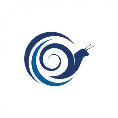 Snail Vector icon design illustration Template icon