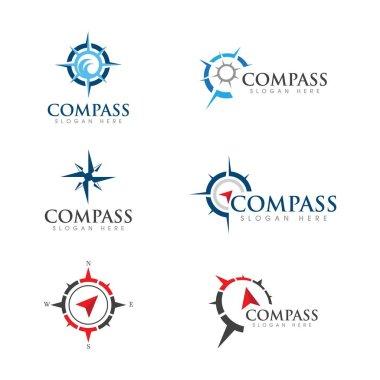 Compass vector icon illustration design Template