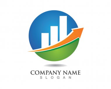 Finance logo template grafik