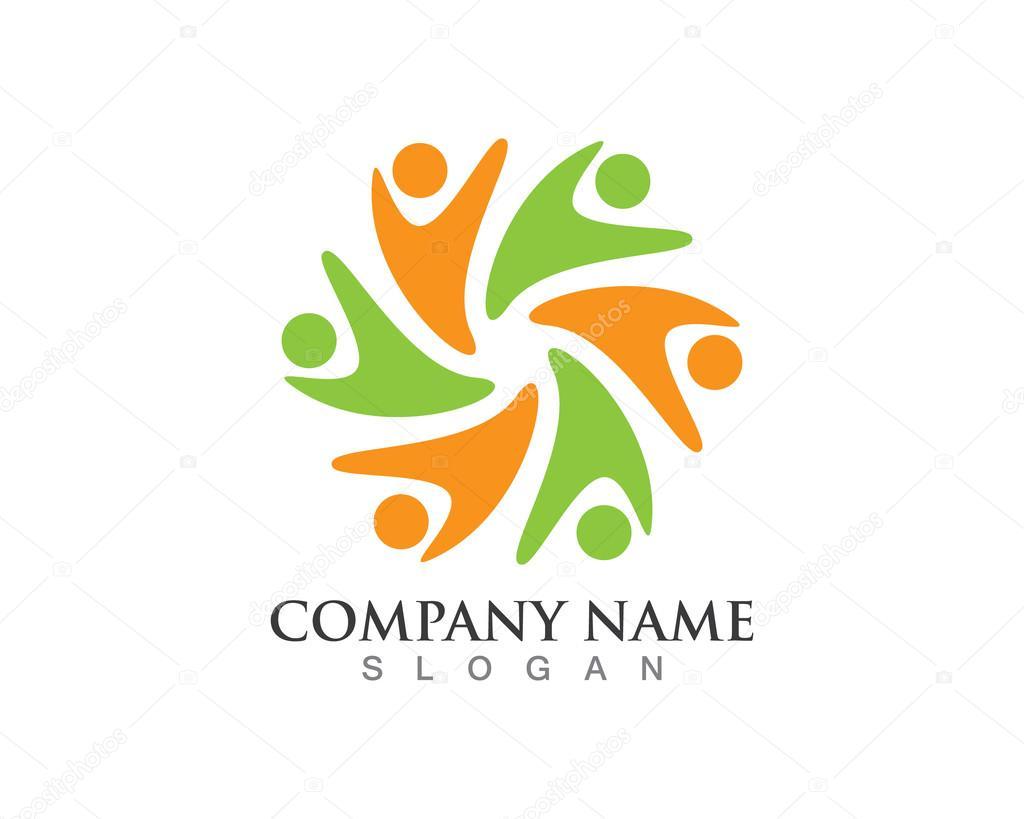 Plantilla de logotipo comunitario — Archivo Imágenes Vectoriales ...
