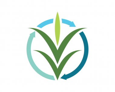 Finance logo or grass
