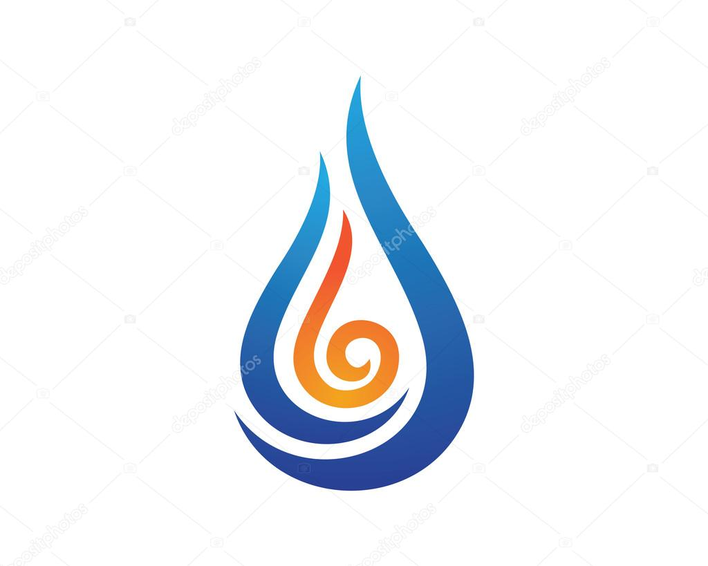 Water Hot Logo Template