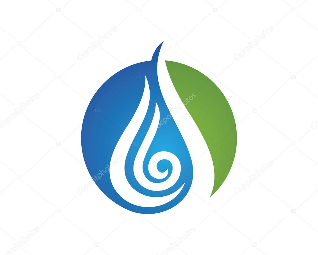 Water Hot Logo Template