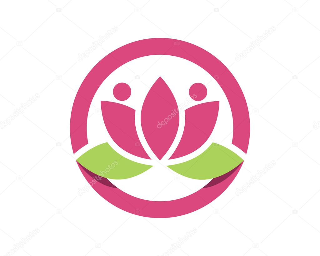 Vector lotus flowers design Logo Template