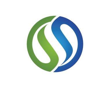 S letter Logo template element