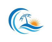 Fényképek Szépség hullám logó sablon