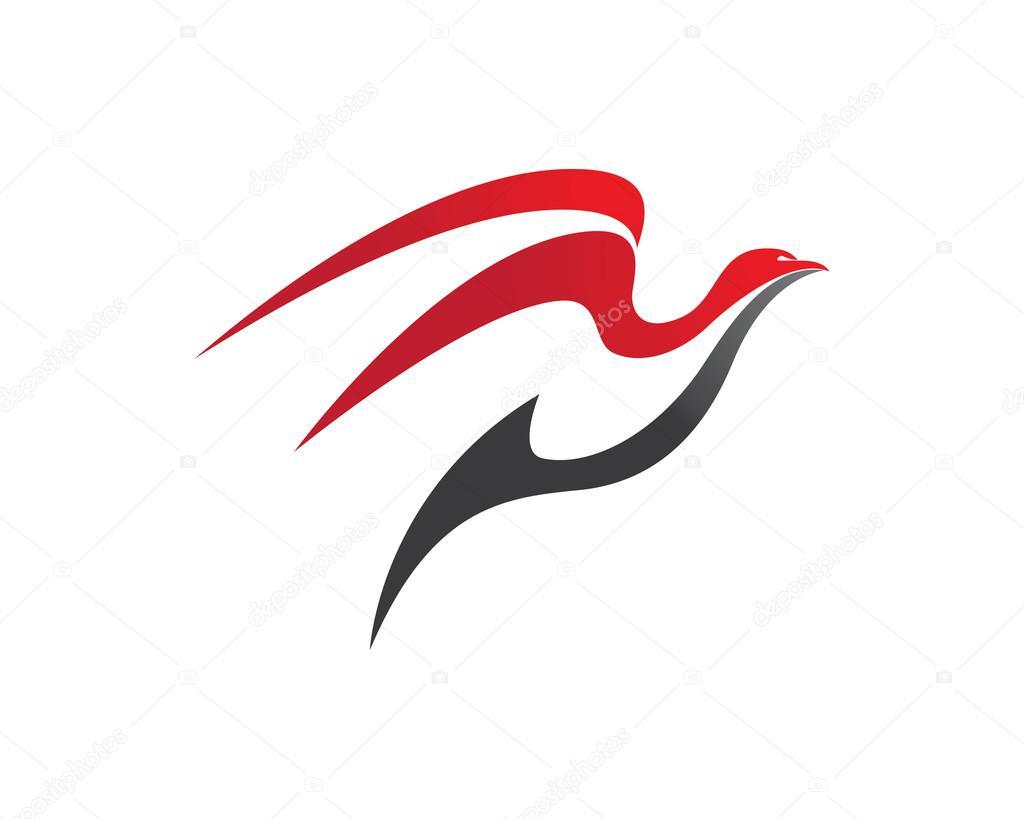 Icono de plantilla de logotipo de halcón — Archivo Imágenes ...