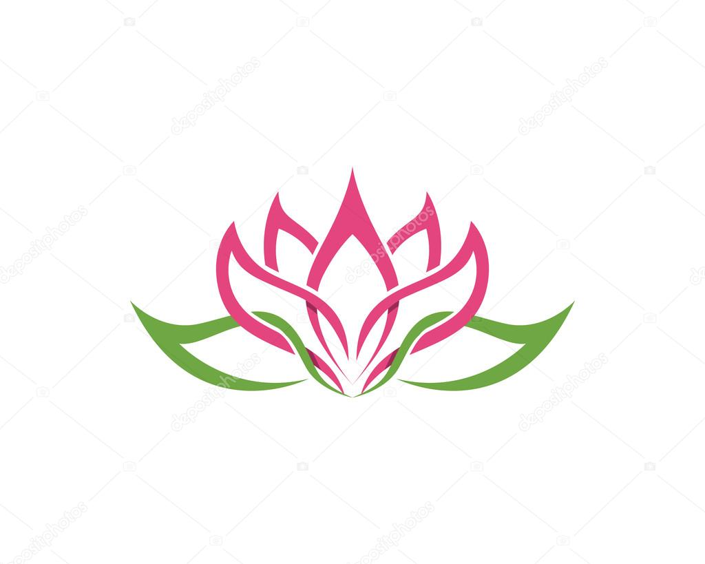 Stylized Lotus Flower Icon Vector Background Stock Vector Elaelo