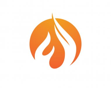 Fire flames icon Logo Template