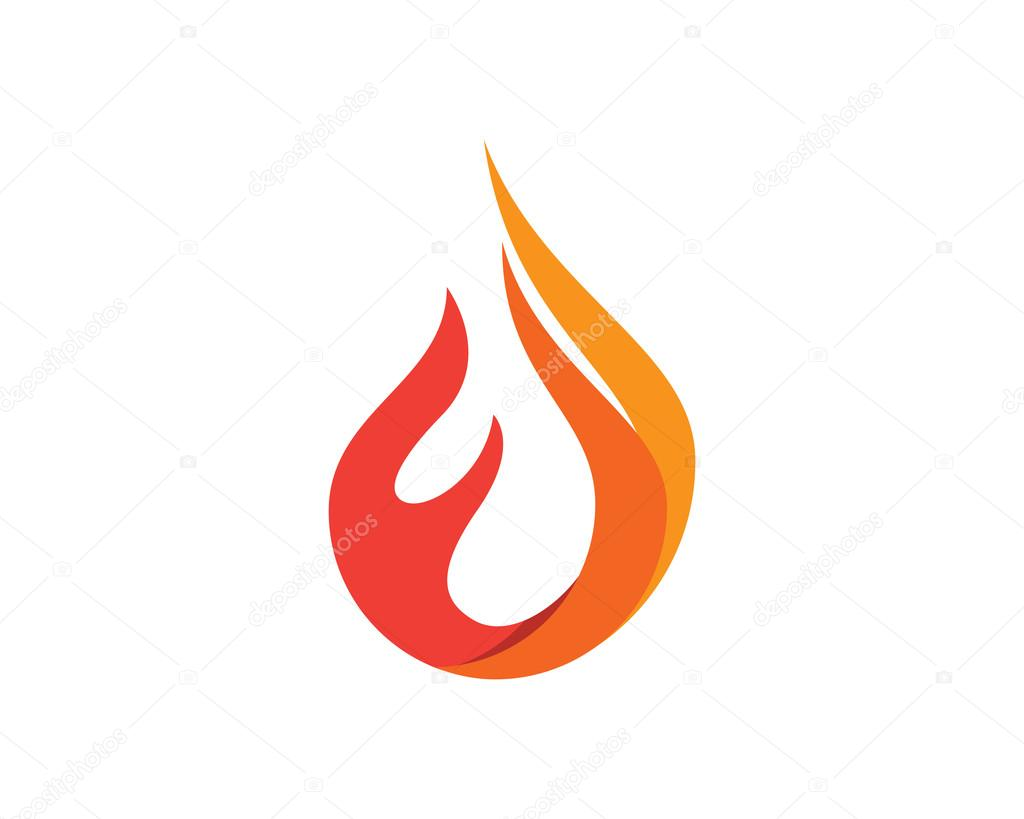 Fire flames icon Logo Template — Stock Vector © elaelo #95174008