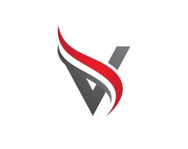 A, V Letter Logo Template