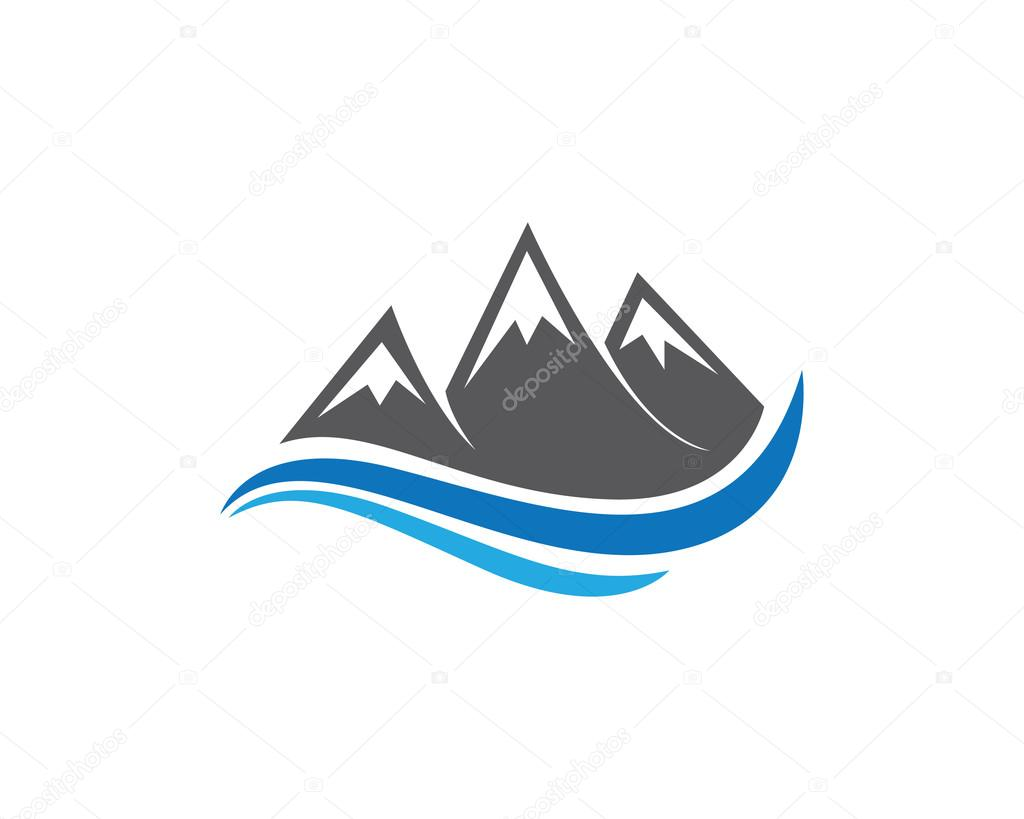 mountain beach wave logo � stock vector 169 elaelo 98154808