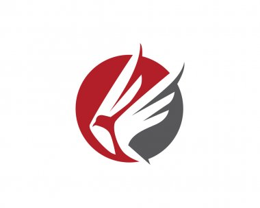 Bird wings fly logo