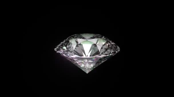 Plynulé otáčení 3d brilantní diamant. S vysokým rozlišením.