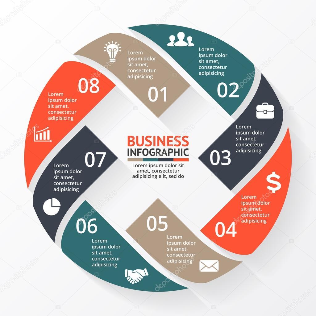 Business Cycle Diagram | Vector Circle Arrows X Infographic Diagram Graph Presentation