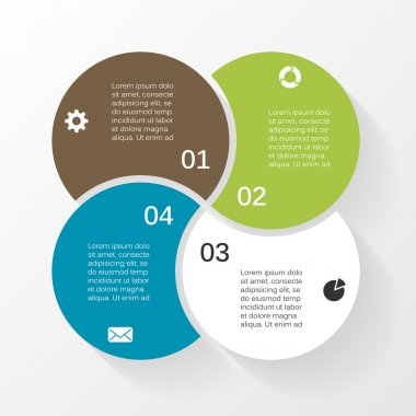 Vector circle infographic. Template for diagram, graph, presentation and chart. Business concept with 4 options, parts, steps or processes. Abstract background.