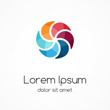Color logo template. Design element, sign, symbol.