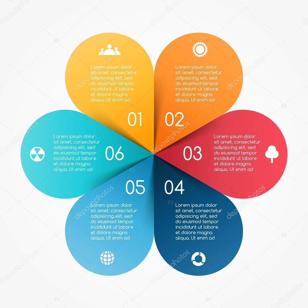 Vector circle color leaves infographic template for diagram vector circle color leaves infographic template for diagram graph presentation and chart nvjuhfo Images