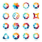 Fotografie Logo sada. Kruh značky a symboly