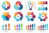 Vektor infographic meghatározott. Ciklus ábra, grafikon, bemutató és kerek diagram sablonja. Üzleti koncepció, beállítások, alkatrészek, lépéseket vagy folyamatok. Absztrakt háttér.